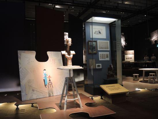 邱火松透過雕塑創作的方式,捏塑出許多與臺南歷史相關的人物塑像,是另類的文史紀錄。