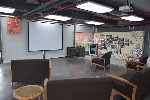 寬敞舒適的放映區,讓觀眾可以仔細欣賞南一中師生創作的「壺寶歷險記」動畫