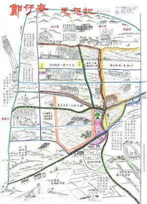 社區地圖:鄭仔寮思想起-在「食水睏土」的年代,蔡顯榮伯伯運用打油詩敘事當年的生活文化。這些記憶歷經滄海桑田的環境邊變遷,在歲月流轉中,大部份已經消失在熟悉的土地上。