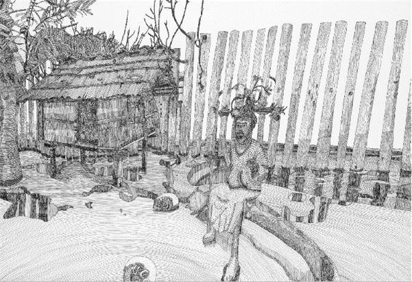 阿美族太巴塱頭目與達悟族穀倉