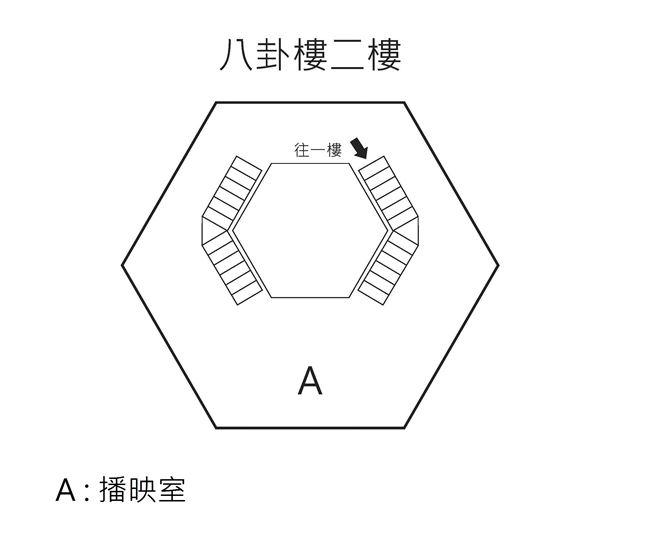 八卦樓二樓平面圖