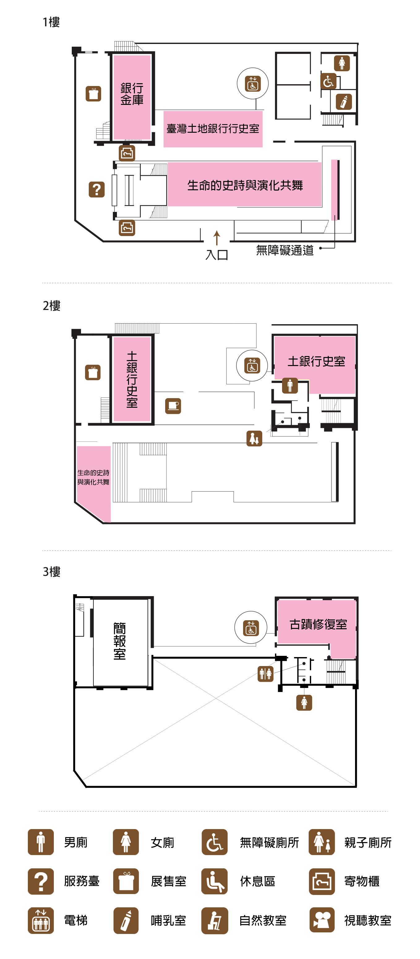土銀展示館樓層平面圖