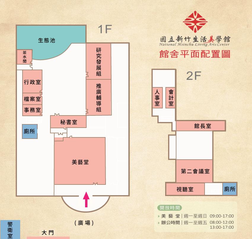 國立新竹生活美學館平面配置圖