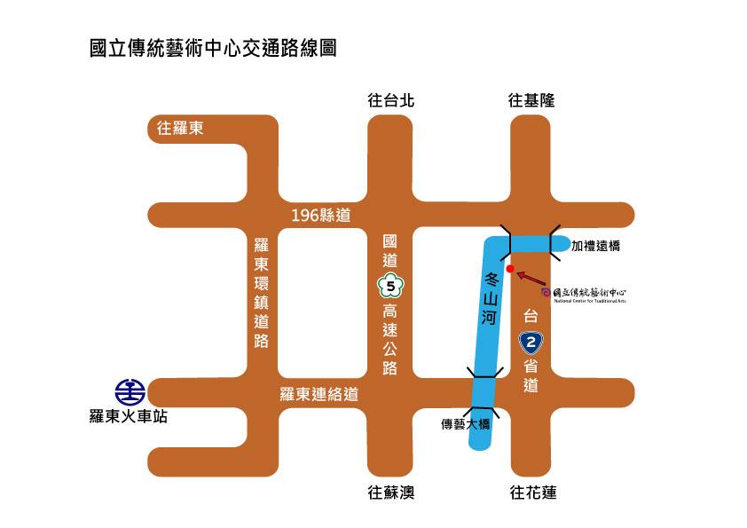 宜蘭傳藝園區地圖