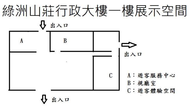 綠洲山莊行政大樓一樓平面圖