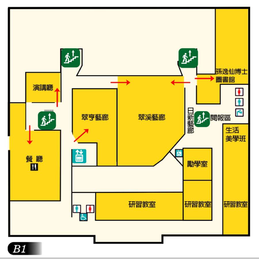 地下一樓(B1)平面圖