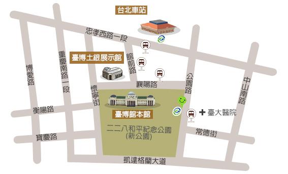 本館、土銀展示館地圖