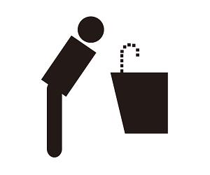 飲水區的符號