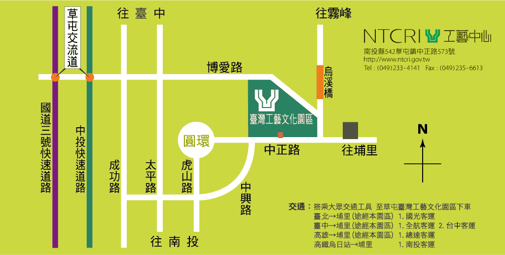 臺灣工藝文化園區地圖