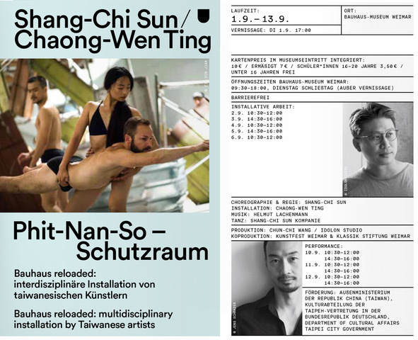 Choreographer Shang-Chi Sun and visual artist Chaong-Wen Ting to explore theme of 'home' at Kunstfest Weimar 2020