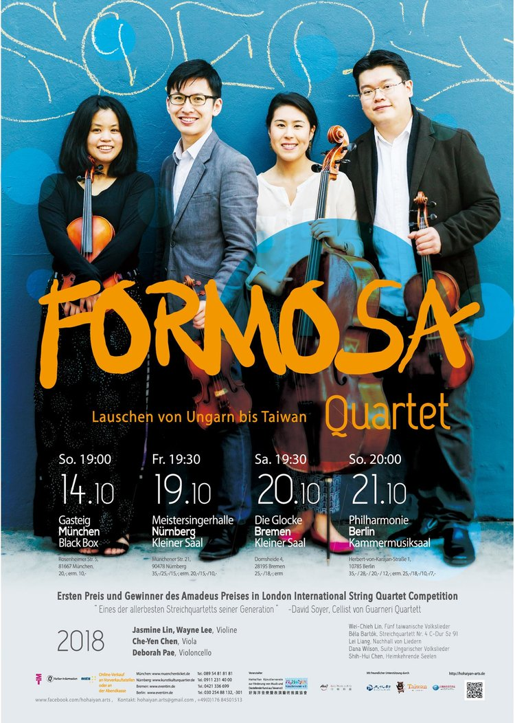 Quartet to tour Germany with Taiwanese-Hungarian folk repertoire