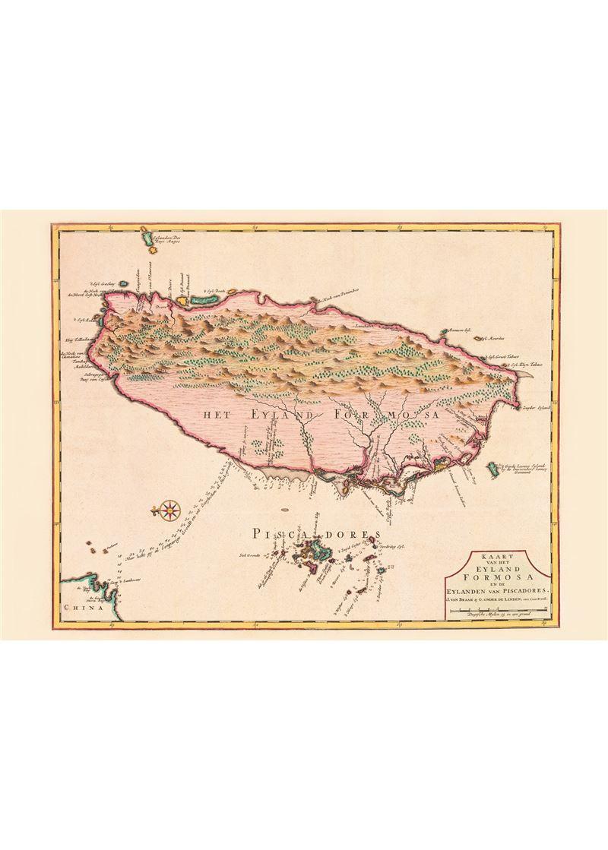 福爾摩沙島與漁翁島圖