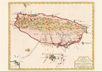地圖明信片1(1726年) -福爾摩沙島與漁翁島圖