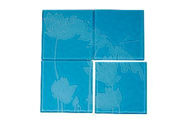 墨荷-杯墊組(藍)