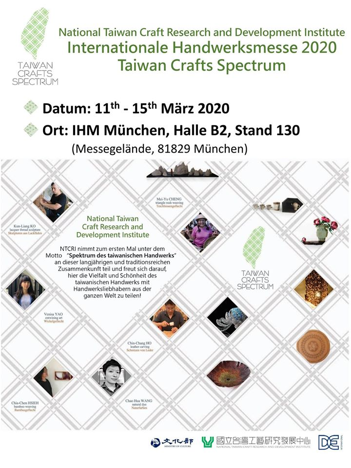Inaugural showcase of Taiwanese crafts at Munich IHM fair
