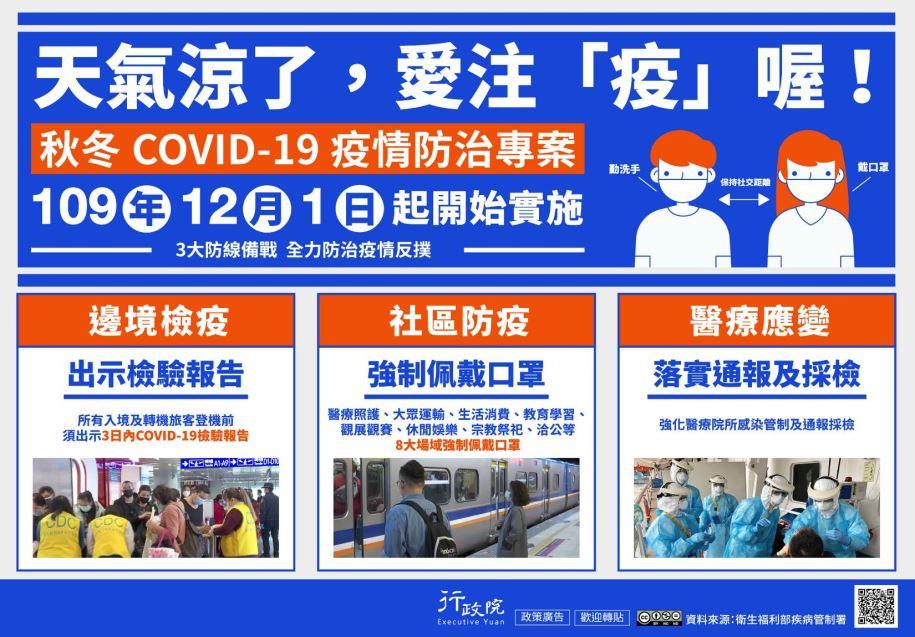 推廣「秋冬COVID-19疫情防治專案」文宣事