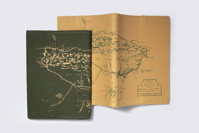 地圖布筆記本(黃)