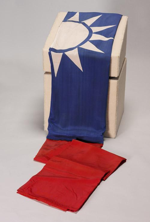 覆蓋靈柩之黨國旗