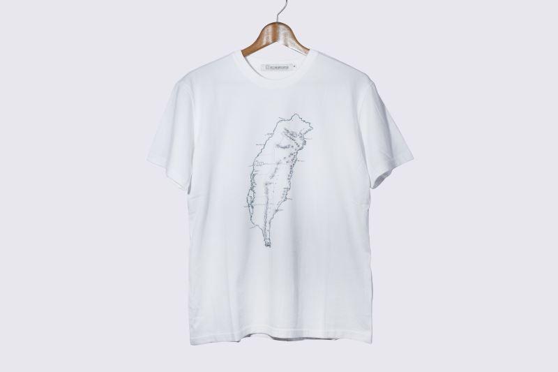 地圖T恤-福爾摩沙(電繡-白)-S