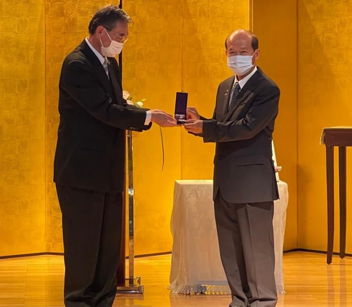 楊明風氏に日本政府から勲章 八田與一追悼式開催