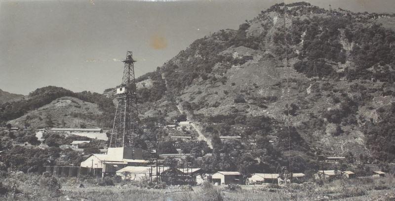 Le premier puits de pétrole en Asie, paysage du passé de Chuhuangkeng