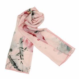 荷花與蜻蜓共舞絲巾