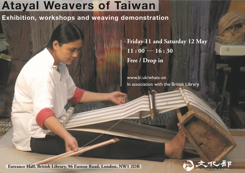 Ancient Atayal weaving to meet UK audiences at the British Library