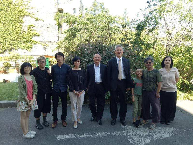 Viceministro de Cultura visita a artistas taiwaneses en la Cité Internationale des arts