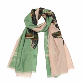 鹿呦長春雙色羊毛圍巾