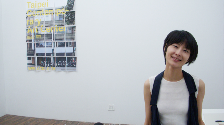 台灣藝術家蘇育賢及策展人鄭美雅在紐約ISCP駐村開放工作室