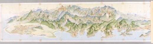 大太魯閣交通鳥瞰圖 (98x16.9cm)