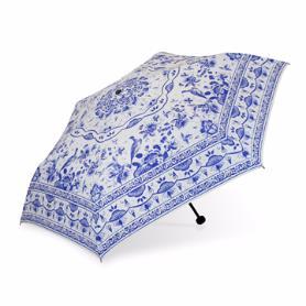 青花傘-三折