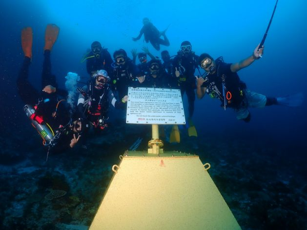 台湾、水中文化遺産の教育普及へ  緑島でワークショップ 日本時代の座礁現場を再訪