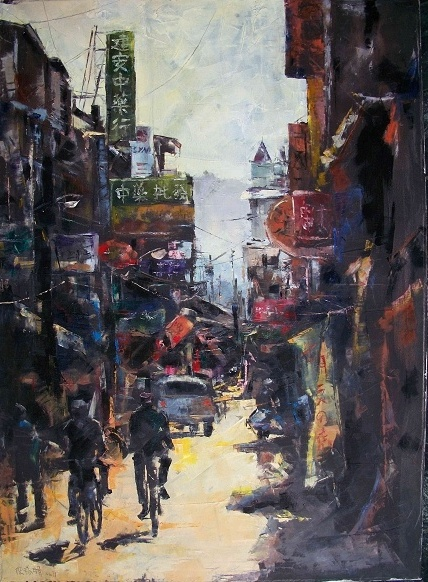 'Palette Knife Painter' featuring Chen Rui-hu