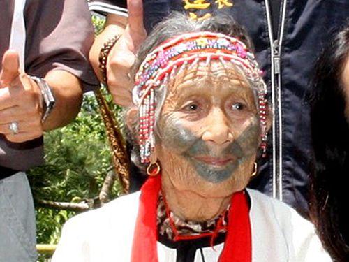 「紋面」保有者の女性が死去 存命4人に 台湾先住民の伝統文化