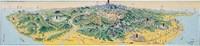 新高阿里山案內鳥瞰圖 (96.7x18.9cm)