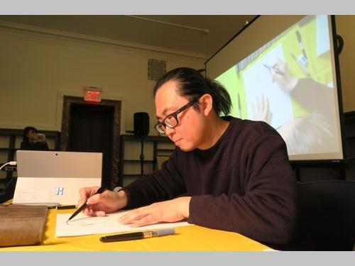 台湾の漫画家、ニューヨークで制作実演 台湾文化を紹介