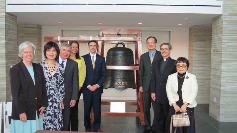駐紐約經文處捐贈賓州Scranton大學臺灣書院和平鐘,加強推展臺美文化交流