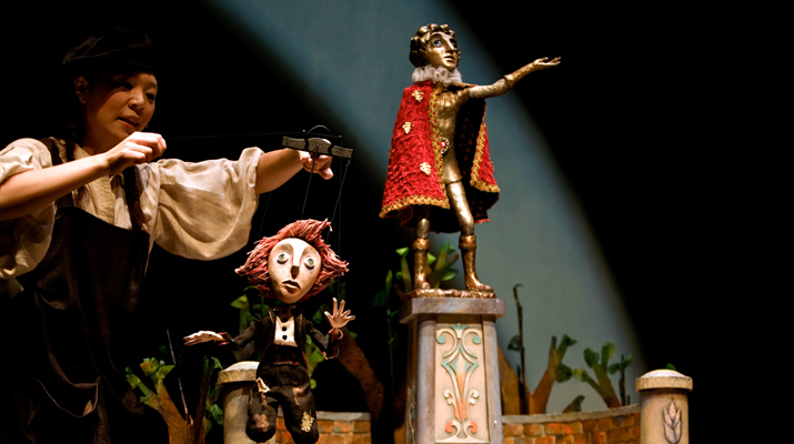 THE PUPPET AND ITS DOUBLE THEATER - THE HAPPY PRINCE