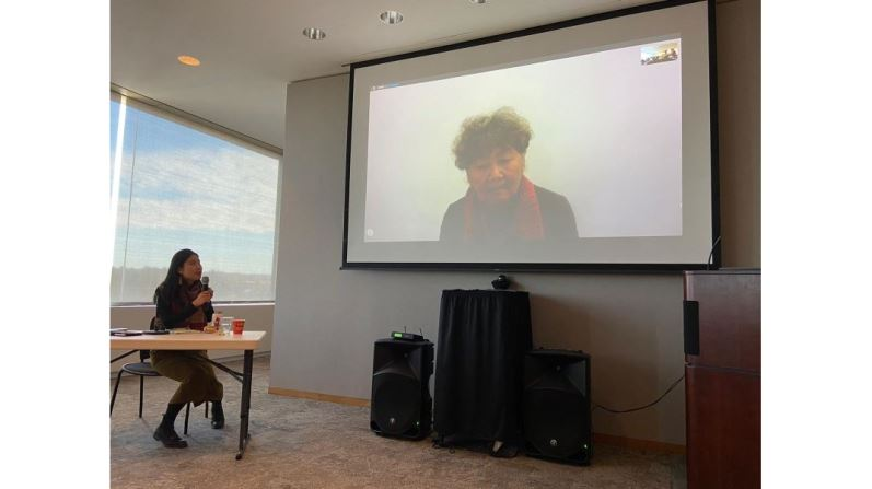 Calligrapher Tong Yang-tze holds artist's talk at Cornell via video