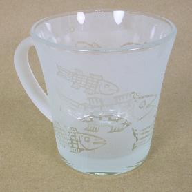 噴砂馬克杯-魚紋