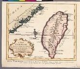 福爾摩沙島與中國沿海局部圖 (46.5x36.7cm)