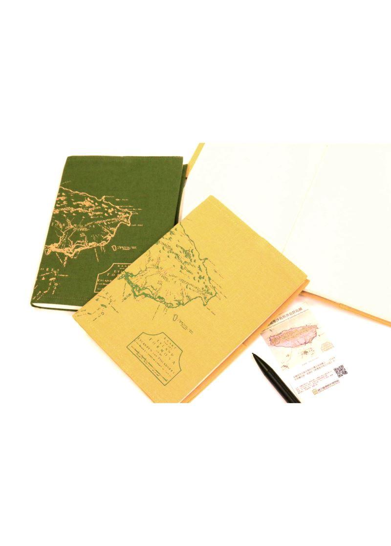 地圖布筆記本