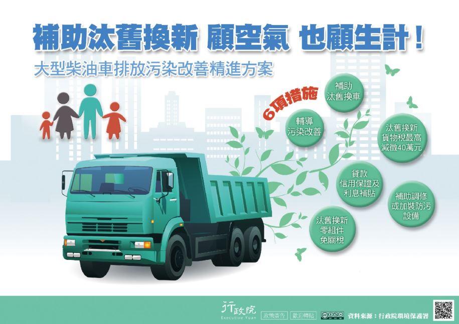 推廣「大型柴油車排放污染改善精進方案」文宣事