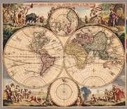 世界新地圖 (49.5x50cm)