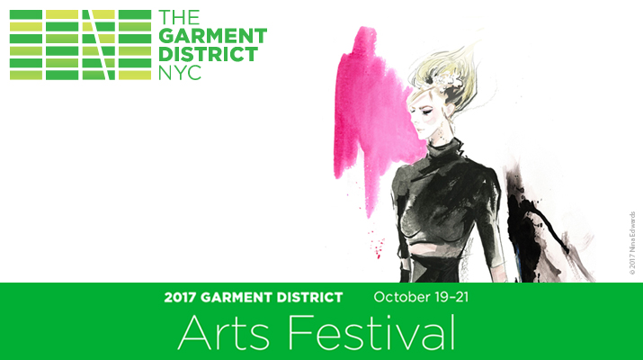 Taiwanese Fashion Illustrator NYC Garment District Arts Festival Live Fashion Illustration Demonstration on October 21