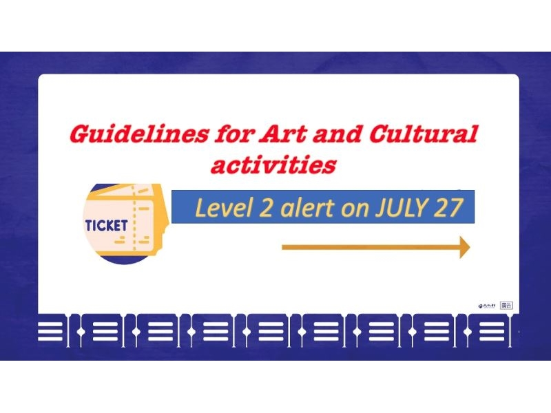 MOC announces guidelines for arts and cultural activities under Level 2 alert
