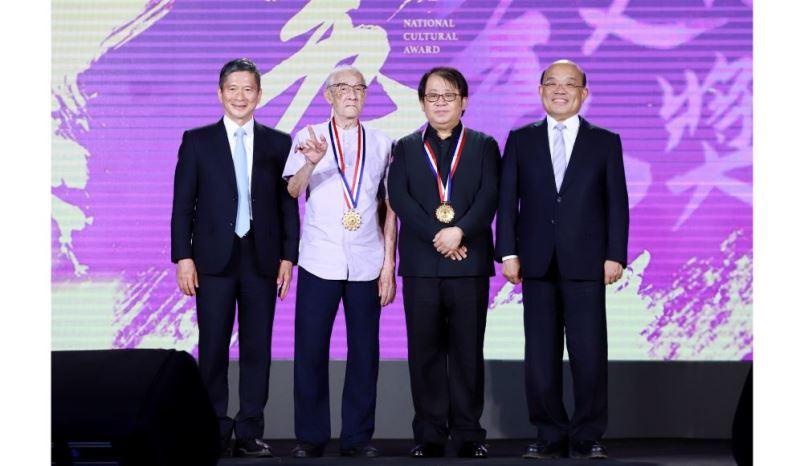 Chen Hsi-huang et Ju Tzong-ching reçoivent le 39e prix national de la Culture