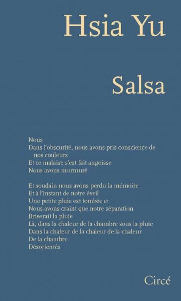 Parution du livre « Salsa » de Hsia Yu