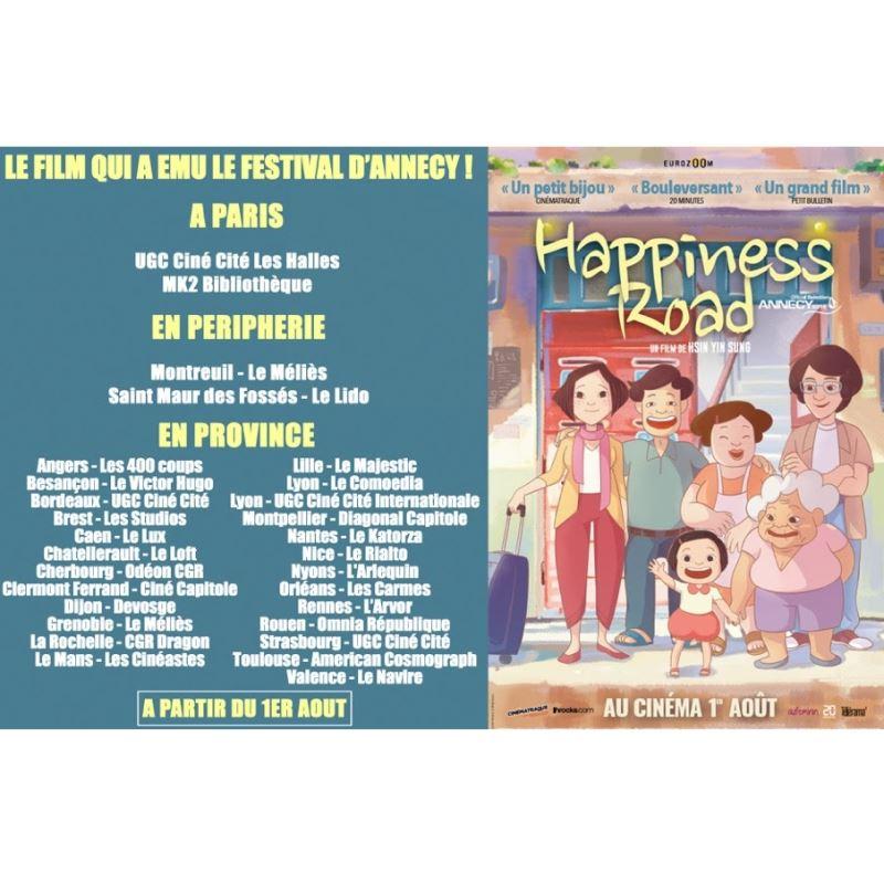 Happiness Road sur les écrans français